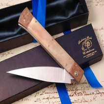 Folding copper stiletto knife cm 13 A. Contini