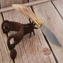 Foggia antica cm 9 corno bianco S. Usai