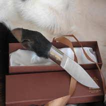 Coltello vero piede di cinghiale Sardo cm 10,5