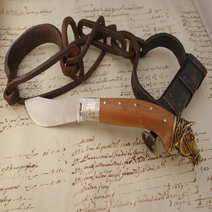 Knife Juniper Arabian Horse Augusto Curreli cm 10