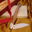 Pattada-Messer cm 10, Stahl 12C27, Wacholder