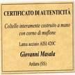 Pattada engraving Lorenzo Gamba Brescia