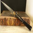 Automatic molise knife cm 16,5 mosaic damascus