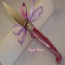 Incisione personalizzata coltello lama anello