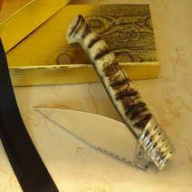 Coltello sardo rustico in muflone cm 11