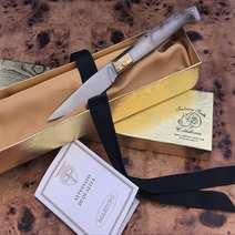 Folding sardinian knife ram's horn Silvano Usai