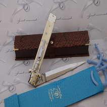 Italian Switchblade  cm 35 Lelle Floris camel bone
