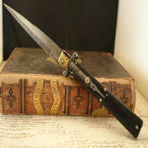 Italian switchblade Mosaic Damascus Steel Floris