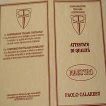 Paolo Calaresu Pattada incisa da Antonio Montejano