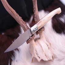 Coltello sardo pattada cm 10 corno bianco