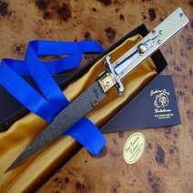 Automatic stiletto ivory cm 12,5 by Lelle Floris