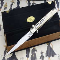 Italian stiletto cm 32,5 real Ivory Lelle Floris