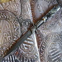 Italian stiletto cm 35,5 damascus Lelle Floris