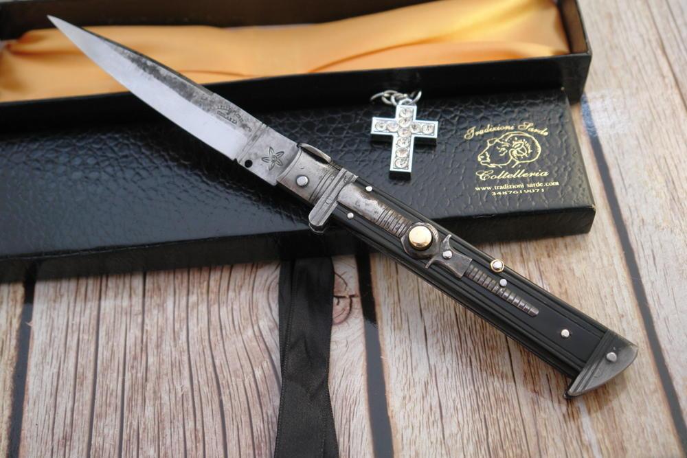 Italian stiletto switchblade cm 12 Lelle Floris - SARDINIAN