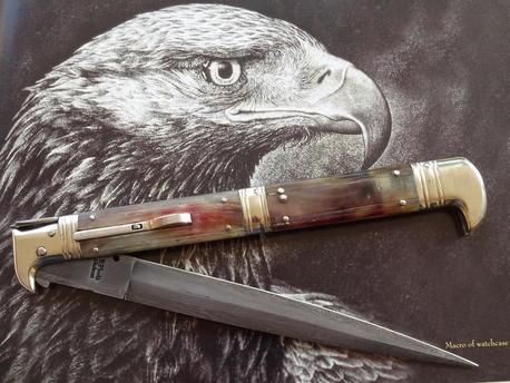 Italian switcblade eagle head cm 44  Lelle Floris