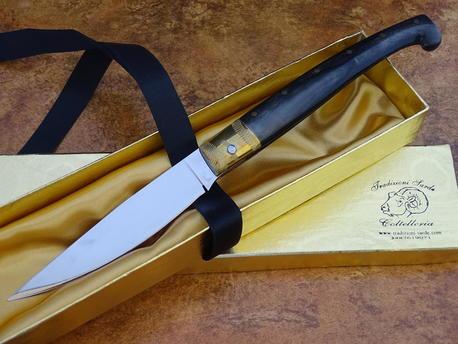 Orgosolo coltello sardo in muflone cm 11 G. Sanna